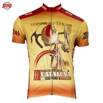 Men Short sleeve Cycling jersey ropa Ciclismo  Retro cycling clothing Bike wear top Brand Outdoor sports Bicycle shirt MTB