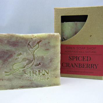 Spiced Cranberry Soap, Cold Process Soap, Vegan Soap, Cranberry
