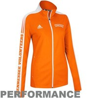 adidas Tennessee Volunteers Ladies Sideline Swagger Warm-Up Performance Jacket - Tennessee Orange