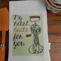 Word Pun Towel Valentine Flour Sack Tea Towel Chef Gift Towel