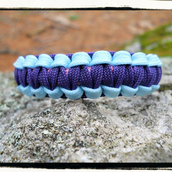 Glow in the Dark Blue Purple Pink Survival Bracelet