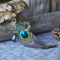 peacock pride necklace
