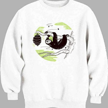 Sloth Illustrated Sweater for Mens Sweater and Womens Sweater *
