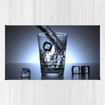 Glass of Water Rug by Mixed Imagery