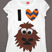 I heart Rumble Shirt Chevron Heart  OKC Thunder