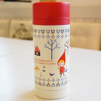 Zakka Life Shinzi Katoh Stainless Steel Mug Bottle: Red Riding Hood Design Shinzi Katoh Design UK Online Decole Japan Maruwa Shop