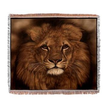 African Lion Face Woven Blanket> African Lion Face> Taglines Tshirts and More