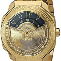 Versace Women's 'Dylos Icon' Swiss Quartz Stainless Steel and Gold Plated Casual Watch(Model: VQU050015)