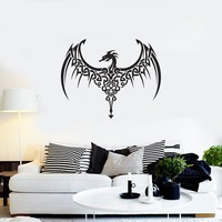 Vinyl Decal Dragon Fantasy Myth Monster Home Decor Unique Gift (g049)