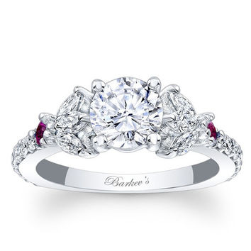 Barkev's Unique Pink Sapphire Diamond Encrusted Engagement Ring