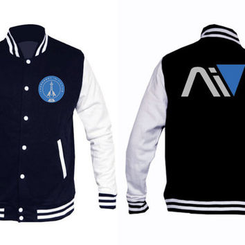 Mass Effect Andromeda Personalised Crest Varsity Jacket