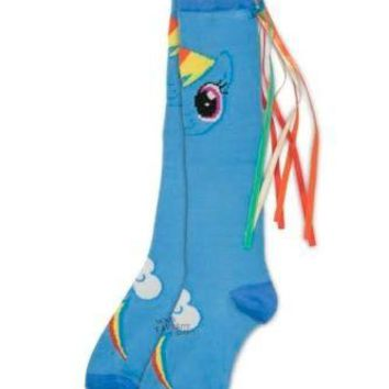 My Little Pony Friendship Is Magic Rainbow Dash Knee Socks With Tail