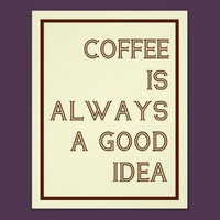 Coffee Poster from Zazzle.com