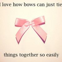 adorable, bow, cute, photography, pink, text