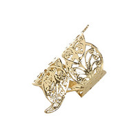 River Island Womens Gold tone filigree foldover ring