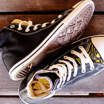 Converse All Star CIPPCAP skin  diy Black Gold Fancy Rare