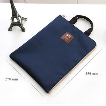 Iconic Basic zip around file pouch bag A4 ver.2