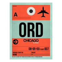 I liked this design on #Fab. ORD Chicago Baggage Tag