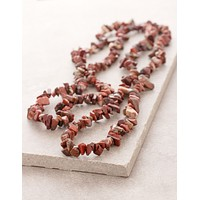 Red Jasper Gemstone Chip Necklace