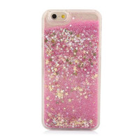 Liquid Pink Glitter Star Quicksand Case for iPhone 6 4.7''