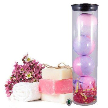 Bombshell 4 Pack Jewelry Bath Bombs Tube