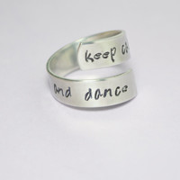 Keep Calm and Dance Wrap Ring - Twist Ring