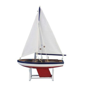 "Wooden It Floats 21"" - American Floating Sailboat Model"