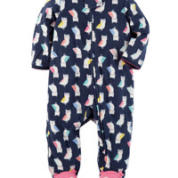 Bird Zip-Up Fleece Sleep & Play
