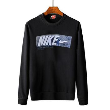 PEAPUF3 Nike round collar hoodie lovers and men's and women's leisure cotton long-sleeved t-shirts top G-A-GHSY-1