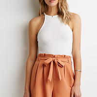 Pleated-Waist Shorts
