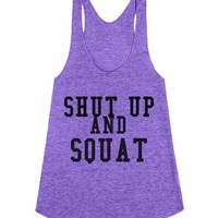 Shut Up And Squat-Female Tri Orchid Tank