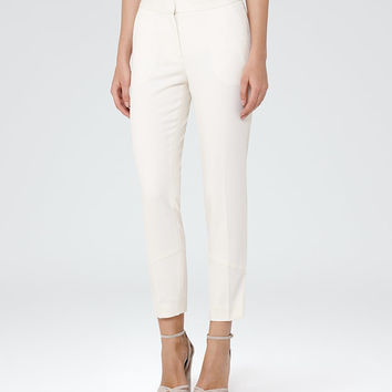 Tori Off White Tailored Trousers - REISS