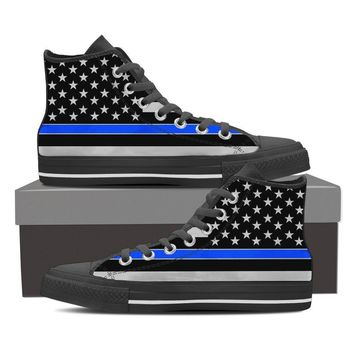 Police Thin Blue Sneakers
