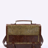 Urban Outfitters - Brown Studded Satchel
