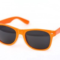 Classic Orange Wayfarer Blues Brothers Sunglasses