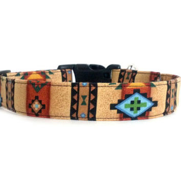 Tribal Brown Southwest Native American Indian Dog Collar