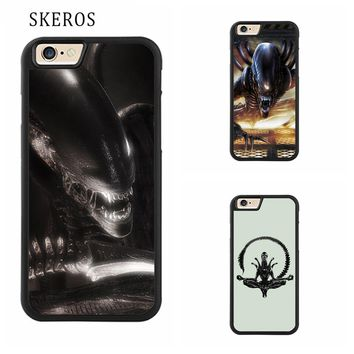 SKEROS Alien Raiders Full Protective cover cell phone case for iphone X 4 4s 5 5s 6 6s 7 8 6 plus 6s plus 7 plus 8 plus #ee28