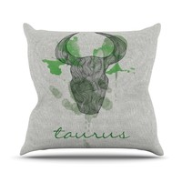 "Belinda Gilles ""Taurus"" Throw Pillow"