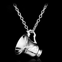 Fashion Simple Once Upon A Time Beauty And The Beast Necklace Broken Cup Pendant For Women And Girl Necklace