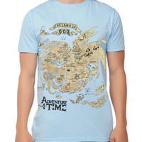 Adventure Time The Land Of Ooo Map T-Shirt