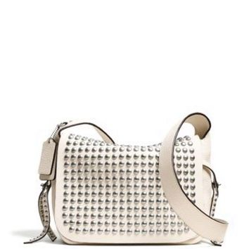 Coach Rivets Studded Flap Dakotah Crossbody In Leather