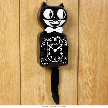 Kit Kat Animated Black Cordless Wall Clock