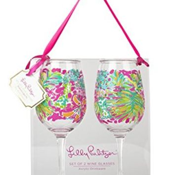 Acrylic Wine Glass Set, Spot Ya, Pink, Pack of 2