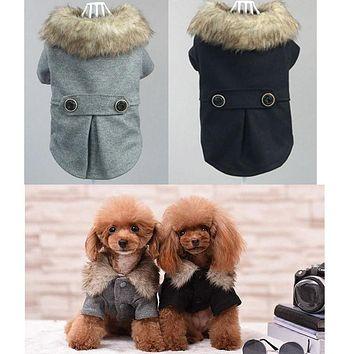 Free Shipping Chicdog Pet Clothing Dog/Cat Clothes Autumn Winter Costumes For Dogs Cheap Warm Coat Puppy Pug Bulldog Bholesale