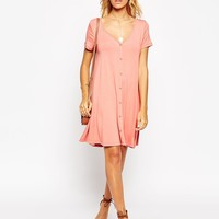 ASOS Swing Dress with Button Front