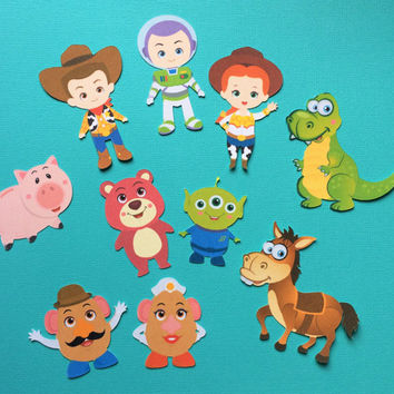 Toy Story inspired cupcake toppers, Toy Story, Buzz Lightyear, Woody, Jessie cupcake toppers, cowboy toppers, Toy Story party