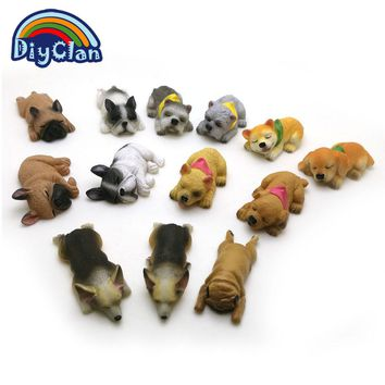 13 dogs shape silicone fondant cake decorating mold Corgi Bulldog chocolate polymer clay mould animal cake tool for bakeware