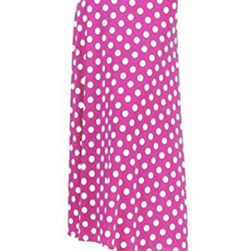 DBG Women's Women's Maxi Long Polka Dots Length Skirts