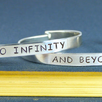 To Infinity and Beyond Bracelet Set - Best Friends - Friendship Jewelry - Aluminum