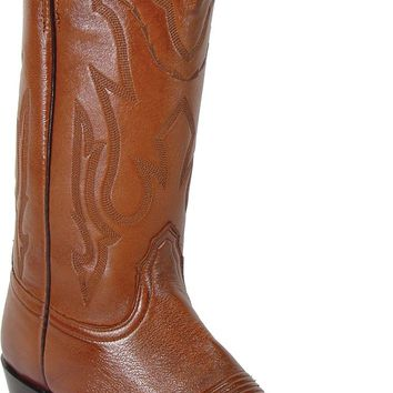 Lucchese Heritage Mens Antique Brown Lone Star Calf Leather Cowboy Western Boots T3097